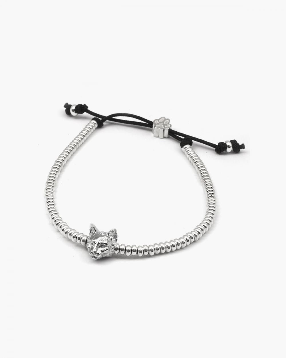 norwegian forest snout bracelet polished silver